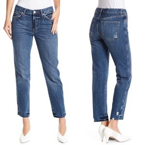 Free People Slim Boyfriend Distressed Jeans